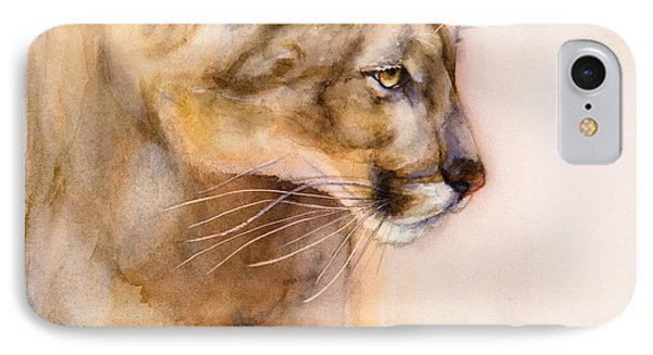 Cougar On The Prowl IPhone Case by Bonnie Rinier