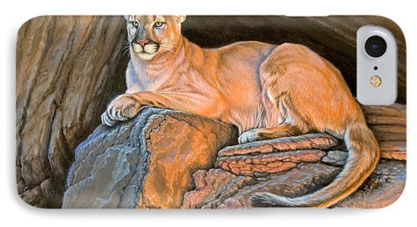Cougar IPhone Case by Paul Krapf