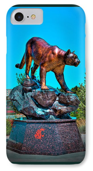 Cougar Pride Sculpture - Washington State University IPhone Case by David Patterson