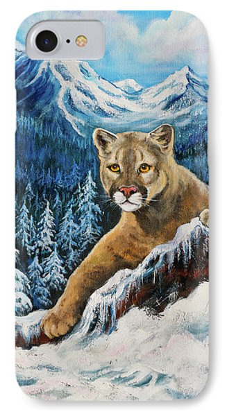 Cougar Sedona Red Rocks  IPhone Case by Bob and Nadine Johnston