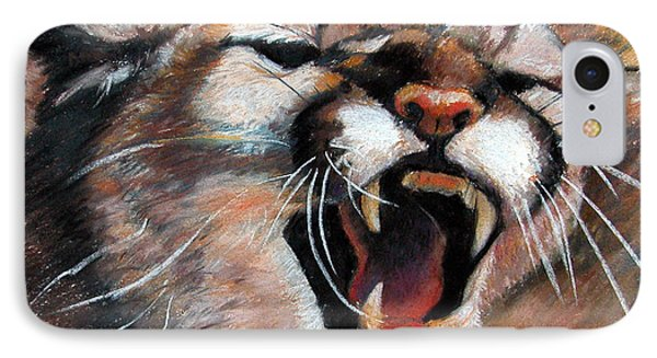 Cougar IPhone Case by Synnove Pettersen