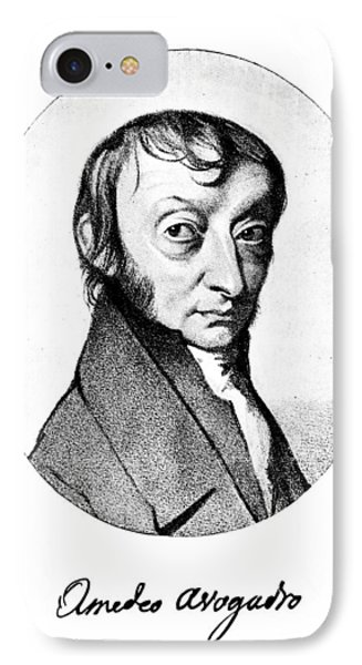 Count Amedeo Avogadro (1776-1856) IPhone Case by Granger