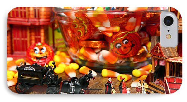 Count And Countess Dracula Inadvertently Took Their Daughters Trick Or Treating At The Van Helsings IPhone Case by Lon Casler Bixby