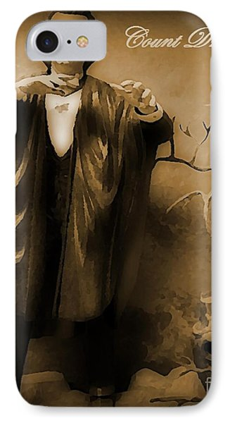 Count Dracula In Sepia Phone Case by John Malone