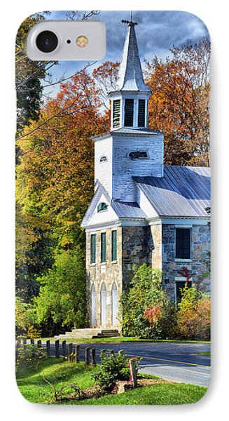 Country Church IPhone Case by Barbara Manis