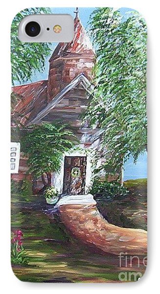 IPhone Case featuring the painting Country Church by Eloise Schneider