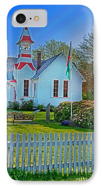 Country Church In Oysterville Wa Phone Case by Valerie Garner
