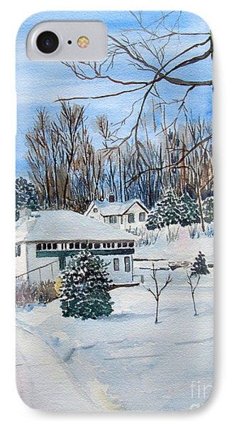 Country Club In Winter IPhone Case by Christine Lathrop