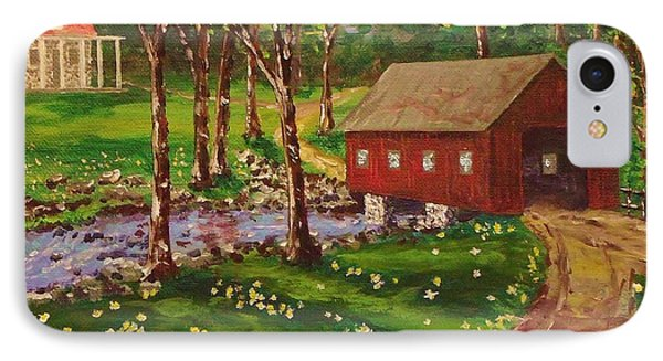 Country Covered Bridge IPhone Case by Mike Caitham