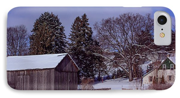 Country Farm In Winter IPhone Case