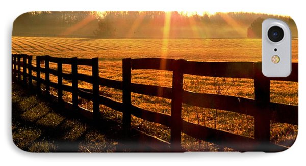 Country Fence IPhone Case by Carlee Ojeda