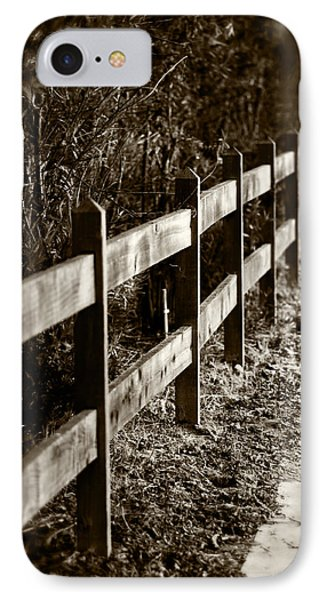 Country Fence Sepia IPhone Case