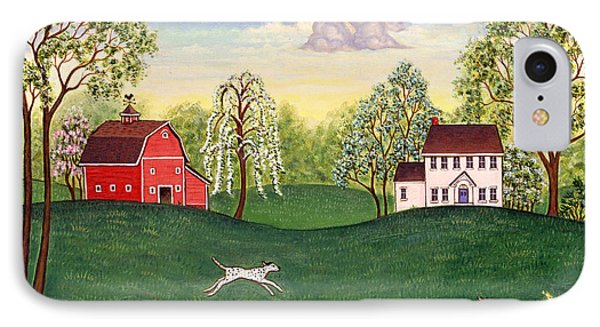 Country Frolic One Phone Case by Linda Mears