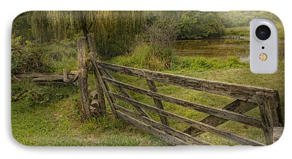 Country - Gate - Rural Simplicity  IPhone Case by Mike Savad