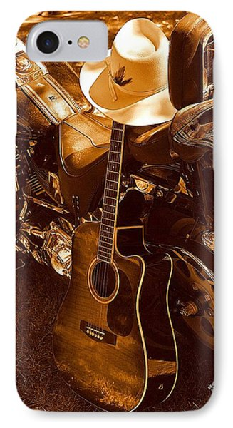 IPhone Case featuring the photograph Country Harleys by Karen Kersey
