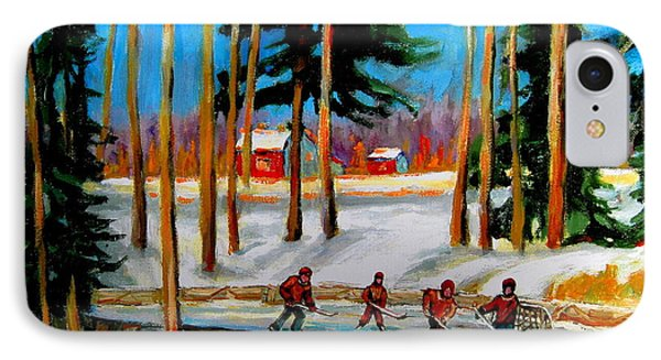 Country Hockey Rink IPhone Case by Carole Spandau