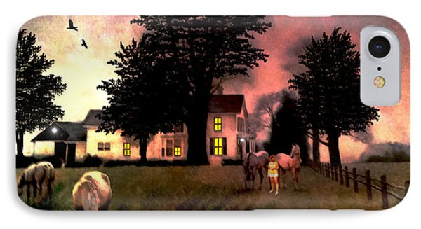 Country Home IPhone Case by Michael Rucker