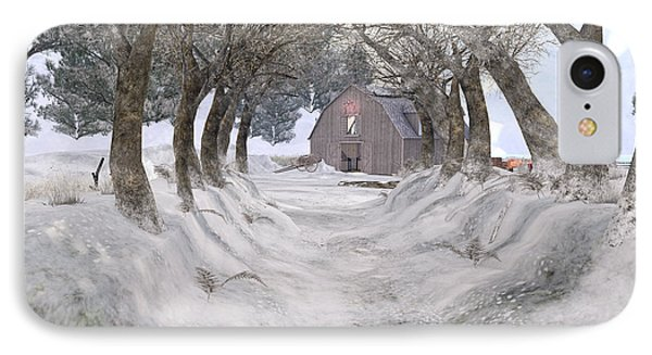Country Lane In Winter IPhone Case by Kylie Sabra
