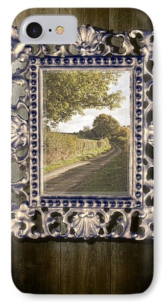 Country Lane Reflected In Mirror Phone Case by Amanda Elwell