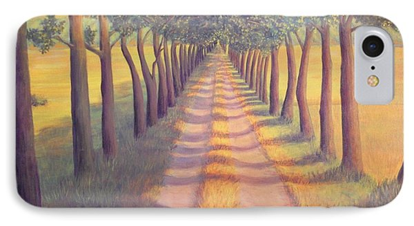 IPhone Case featuring the painting Country Lane by Sophia Schmierer