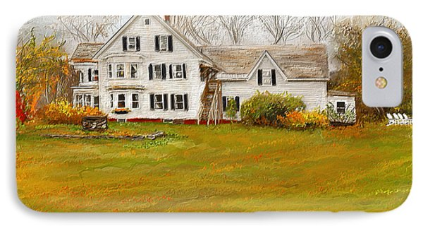 Country Moments-farmhouse In Woodstock Vermont IPhone Case by Lourry Legarde