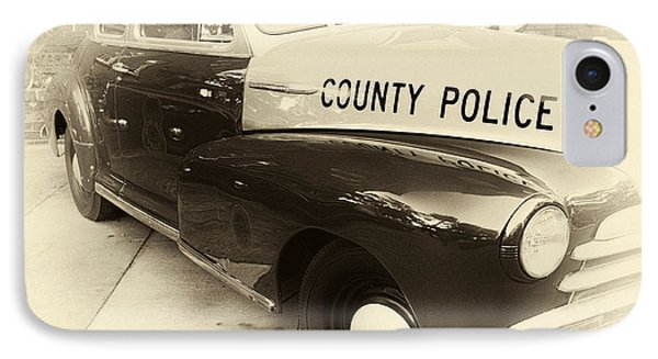 Country Police Antique Toned Phone Case by John Rizzuto