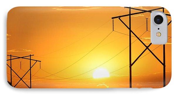 Country Powerline's Phone Case by Robert D  Brozek