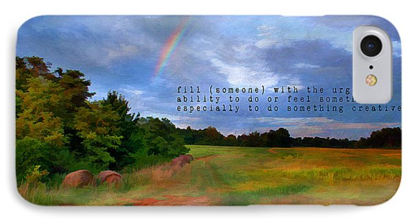 Country Rainbow Phone Case by Darren Fisher
