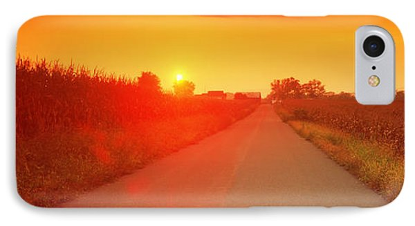 Country Road At Sunset, Milton IPhone Case