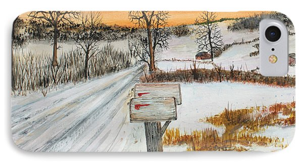 IPhone Case featuring the painting Country Road Memories by Jack G  Brauer