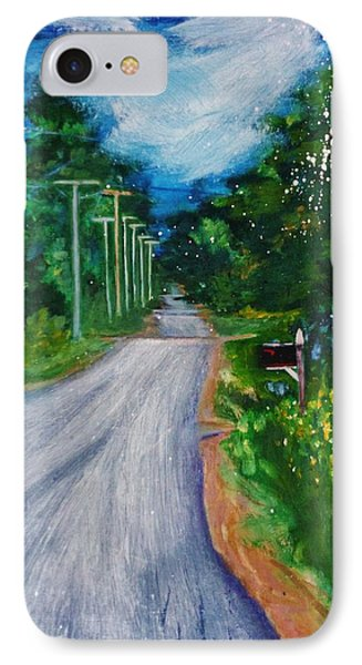 Country Road IPhone Case by Nancy Milano