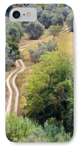 Country Road Of Tuscany Phone Case by David Letts