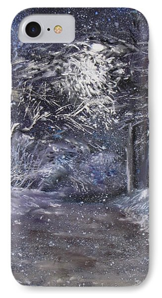 Country Road On A Wintery Night Phone Case by Jack Skinner