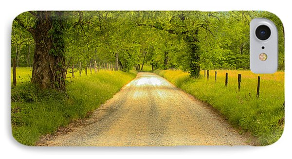Country Road IPhone Case by Robert Hebert