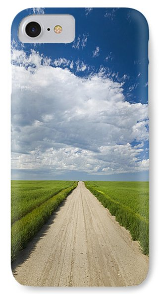Country Road Through Grain Fields Phone Case by Dave Reede