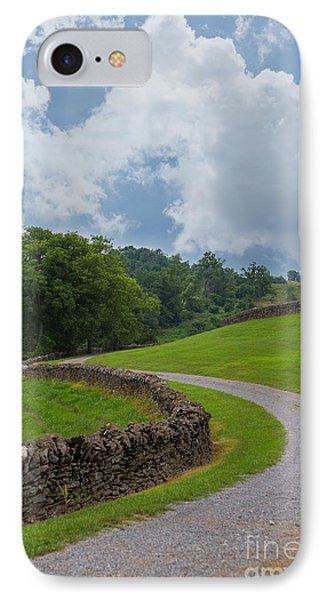 Country Road With Limestone Fence Phone Case by Kay Pickens