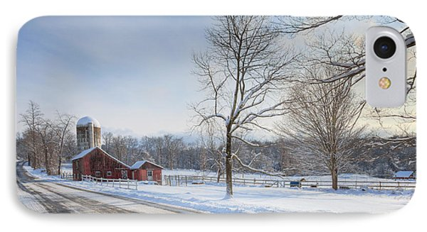 Country Roads Winter IPhone Case by Bill Wakeley
