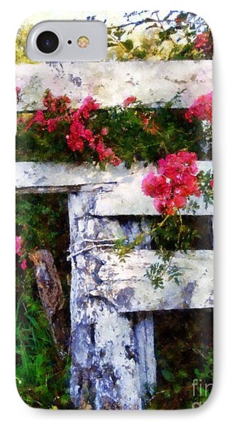 Country Rose On A Fence 2 IPhone Case