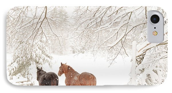 Country Snow IPhone Case by Cheryl Baxter
