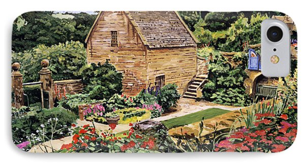Country Stone Manor House IPhone Case by David Lloyd Glover