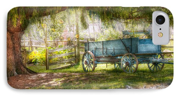 Country - The Old Wagon Out Back  Phone Case by Mike Savad