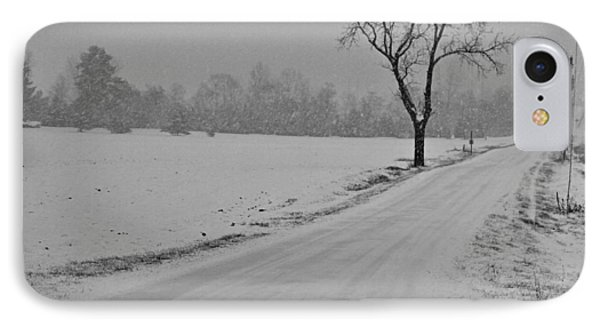 Country Winter Roads IPhone Case
