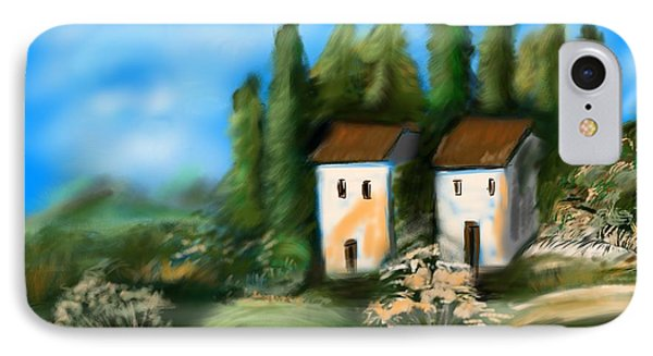 IPhone Case featuring the digital art Countryside by Christine Fournier
