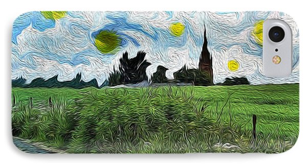 Countryside Impressioniism IPhone Case by Mary M Collins
