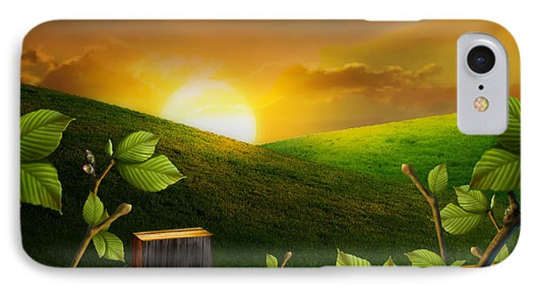 Countryside Sunset Phone Case by Peter Awax