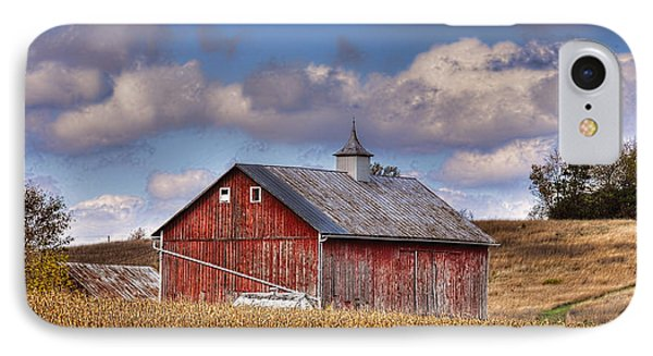 County G Barn In Autumn IPhone Case