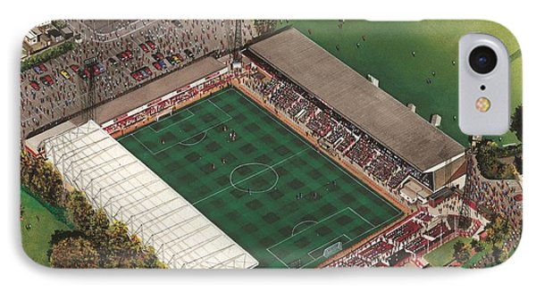 County Ground - Swindon Town IPhone Case by Kevin Fletcher