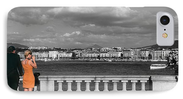 Couple At Leman Geneva Switzerland IPhone Case by Panoramic Images