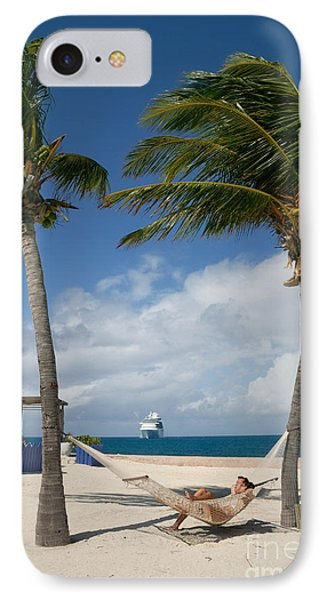Couple In Hammock On Beach Phone Case by Amy Cicconi