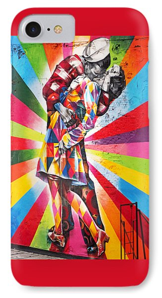 Couple Kissing In Times Square On V-j Day IPhone Case by Rona Black
